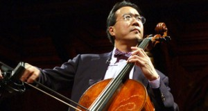 "** FILE **Cellist Yo-Yo Ma tunes up before performing at Harvard University in Cambridge, Mass., in this May 9, 2004, file photo. Yo-Yo Ma's new album ""Silk Road Journeys: Beyond the Horizon"" was released on Capitol. (AP Photo/Chitose Suzuki/FILE)"