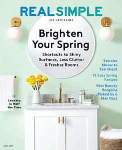 Magazine cover for Real Simple