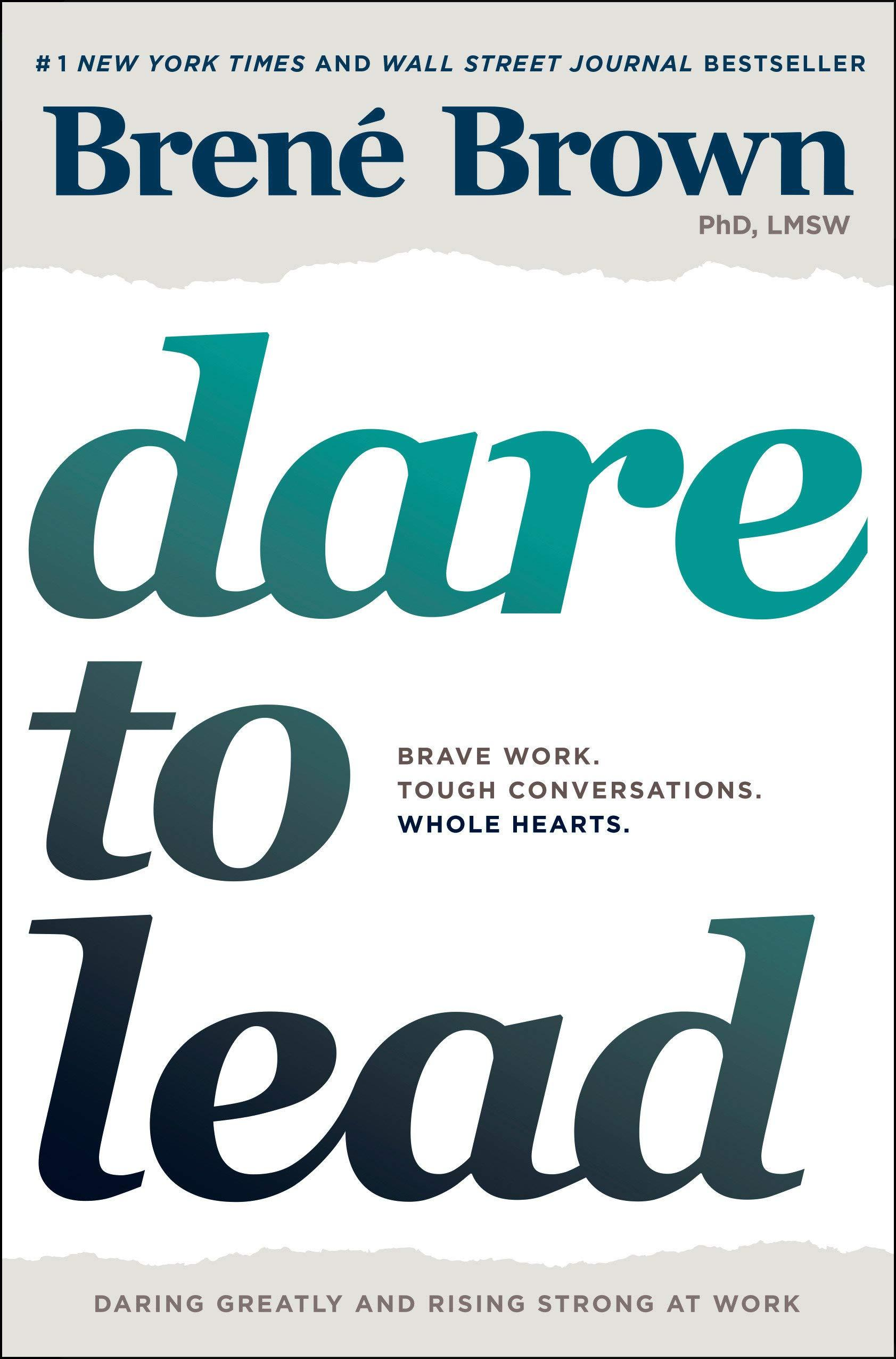 Book cover for Dare to Lead by Brene Brown, Ph.D.
